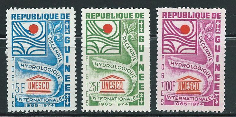 Guinea MNH 433-5 UNESCO Water 1966 SCV 1.60