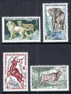 French Equatorial Africa 195-198 AnimalsMNH VF