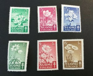 Finland Sc# B98-B100 and B101-B103 Complete Sets MNH (Mint Never Hinged) NH