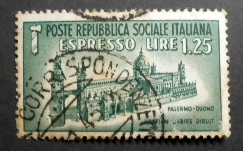 ITALY SPECIAL DELIVERY  STAMP 1944. USED. SCOTT# E3. ITEM 7