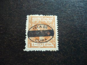 Stamps - Cuba - Scott# 164, Mint Hinged Single Overprinted Stamp
