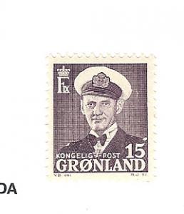 Greenland, 31a, Frederik IX Single, MNH