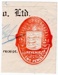 (I.B) Guernsey Revenue : Impressed Duty 2d