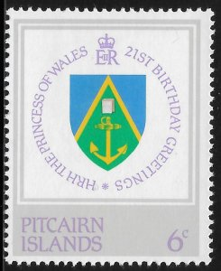 Pitcairn Island - SC# 213 - MNH - SCV$0.25 - 21st Birthday Princess Diana