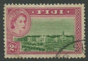 STAMP STATION PERTH Fiji #150 QEII Definitive Issue Used 1954 CV$0.50