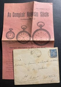 1891 Nogaro France Vintage Cover To Riscle With Catalog