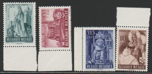 BELGIUM B451-4 MINT NEVER HINGED COMPLETE
