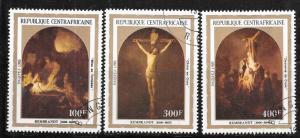 Central African Republic #585-587  Easter  (U) CV $3.40