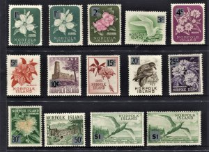 STAMP STATION PERTH Norfolk Island #71-81a Full Set MNH- CV$15.00