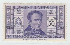 Italia 1932 Dante Alighieri 50c Sass. 308 MH* 18P40F291