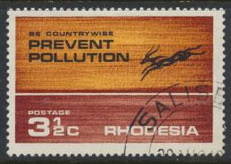 Rhodesia   SG 471  SC# 315  Used Prevent Pollution  Antelope see details