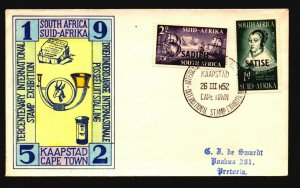 South Africa 1952 Cape Town Tricentenary FDC / Hand Colored - L3793