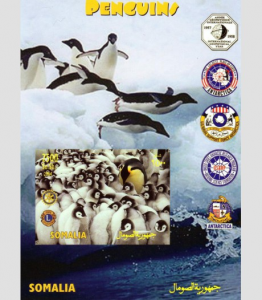 Somalia 2004 Penguins-lions & Rotary s/s Imperforated mnh.vf