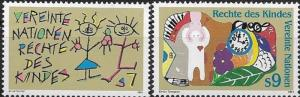 United Nations 1991 Vienna Rights of the Child SC# 117-118 MNH