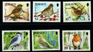 JERSEY SG1450/5 2009 BIRDS MNH