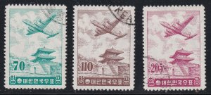 Korea Stamp 1957 Airmail USED STAMPS SET crease