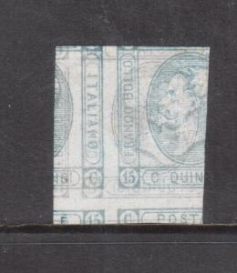 Italy #23 Very Fine Mint Printed On Both Sides Variety **With Certificate**
