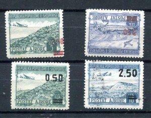 Albania 1952-3 Sc C60-3 Mi 521-4 MNH(1st is MvLH Towns 8999