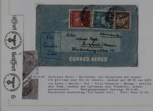 Chile/Germany airmail cover 30.4.40