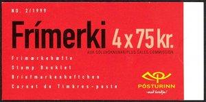 Iceland Sc# 879a MNH Complete Booklet 1999 75k Locomotive