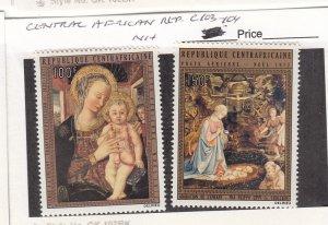 J26299 jlstamps 1972 central africa rep mnh set #c103-4 christmas
