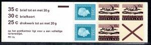 Netherlands Scott # 461Ab, mint nh, cpl. stamp booklet,  se-tenant