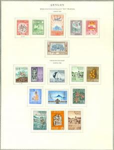 CEYLON : 1950-1958. 2 definitive sets. Very Fine, Mint Original Gum Hinged.