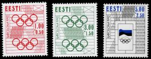 Estonia Scott B60-B62  MNH** Olympic semi-postal stamp set