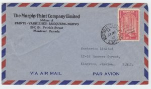 10c airmail 1st 1/4oz to **JAMAICA** 1942 Canada cover