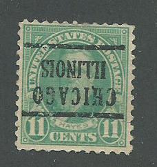 1922 USA Chicago, Illinois  Precancel on Scott Catalog Number 563