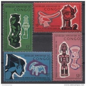 Congo MNH Set Of Masks & Sculptures 1966