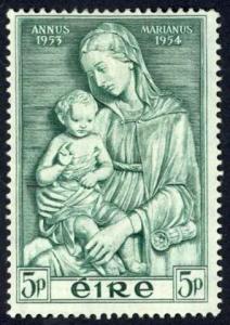 Ireland Sc# 152 MH 1954 Madonna by della Robbia