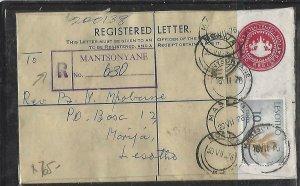 LESOTHO (PP0609B) 1976 10C RLE+10C MANTSONYANE TO MORIJA