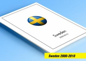 COLOR PRINTED SWEDEN 2000-2010 STAMP ALBUM PAGES (71 illustrated pages)