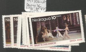 Nicaragua SC 1977 Christmas, Dance 1056-65 MNH (7cjz)