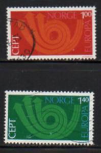 Norway Sc  604-5 1973 Europa stamp set used