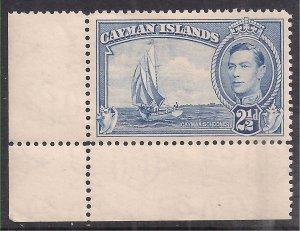 Cayman Islands 1938 - 48 KGV1 2 1/2d Bright Blue Umm SG 120 ( C861 )