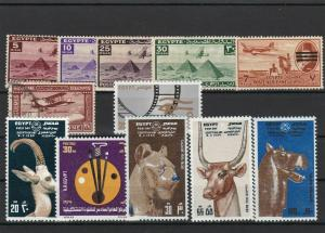 Egypt Mounted Mint & Used mixed Stamps incl. Animals  ref R 16367