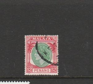 Malaya penang 1954/7 $2 Used SG 42