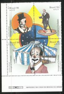 Brazil Scott 2673 MNH** Clown block 1998