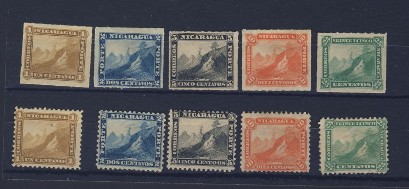 26x Nicaragua Stamps #3 to #12 & #13 to #28 Mostly Mint Guide value = $118.00