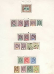 St. Lucia Stamps 1902-09 Approx. CV. $319 (JH 9/22) GP