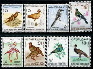 HERRICKSTAMP TUNISIA Sc.# C25-32 1965 Birds Fresh Set Mint NH