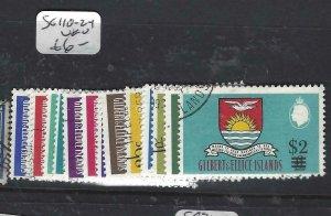 GILBERT & ELLICE IS (P0307B)   QEII REVALUED SET  SG 110-124   VFU