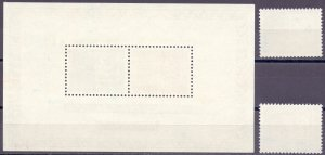 Norway. 1972. 637-38 bl1. Stamps on stamps. MNH.
