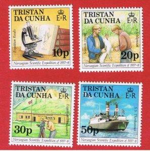 Tristan da Cunha #416-419  MNH OG  Norwegian Expedition   Free S/H