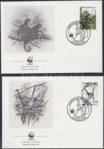Honduras stamp WWF Monkey set 4 FDC Cover 1990 Mi 1084-108 WS151188