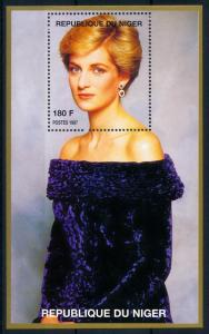 [76491] Niger 1998 Royalty Princess Diana Sheet MNH