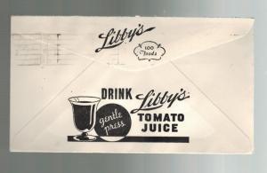 1941 Vancouver BC Canada Libby Tomato Juice Advertising Window Cover