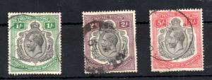 Tanganyika 1927 KGV High Values fine used SG#102-105 WS13863